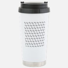 Pissy Cat Lines Stainless Steel Travel Mug