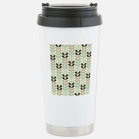 Retro Pattern Stainless Steel Travel Mug