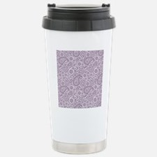 Purple Plum  White Vint Travel Mug