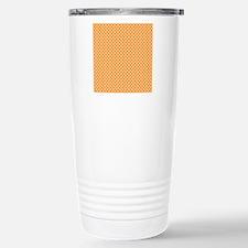 Orange Tartan Travel Mug