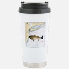 striped bass nautical s Stainless Steel Travel Mug