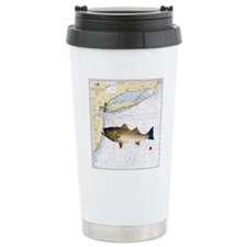 striped bass nautical s Travel Mug