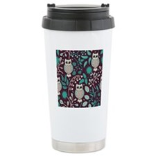Owls Pattern Travel Mug
