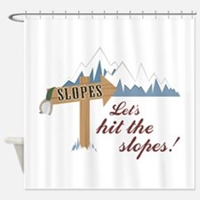 Let's Hit the Slopes! Shower Curtain