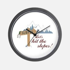 Let's Hit the Slopes! Wall Clock