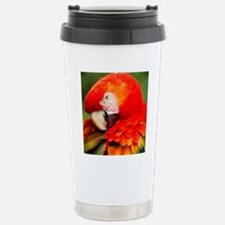 Scarlet Macaw Stainless Steel Travel Mug