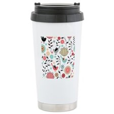 Pretty Bird Pattern Thermos Mug