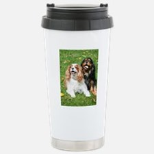 Happy Cavalier King Cha Stainless Steel Travel Mug