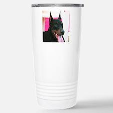 Doberman Pinscher Dog Stainless Steel Travel Mug