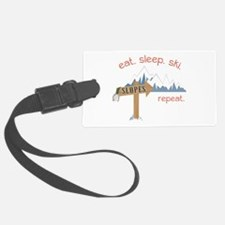 Slopes Eat. Sleep. Ski. Repeat. Luggage Tag