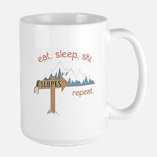 Slopes Eat. Sleep. Ski. Repeat. Mugs
