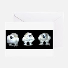 3 Silkies Greeting Cards (Pk of 10)