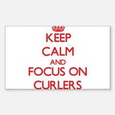 Keep Calm and focus on Curlers Decal