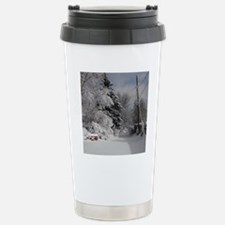 Round Ornament Stainless Steel Travel Mug