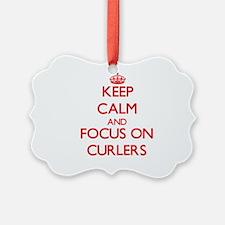 Cute I love curlers Ornament