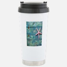 Starfish and Turquoise Stainless Steel Travel Mug