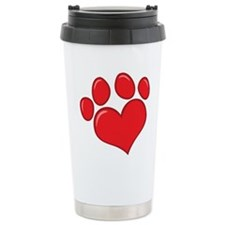 pet paw heart Travel Mug