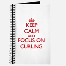 Funny I heart curling Journal