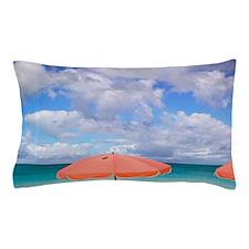 Beach chairs on Grace Baynciales Islan Pillow Case
