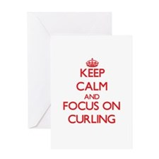 Keep Calm and focus on Curling Greeting Cards