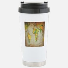 world map shower curtai Travel Mug