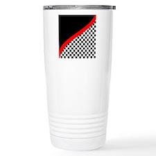 Racing Checkered Design Travel Mug