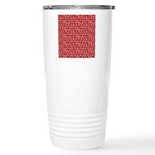 text on red Travel Mug