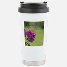 Love is Patient Roses Stainless Steel Travel Mug