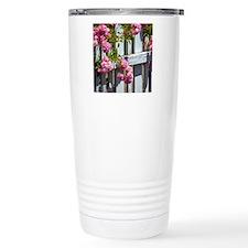 Pink Roses Travel Coffee Mug