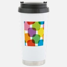 Colorful Retro Pattern Stainless Steel Travel Mug