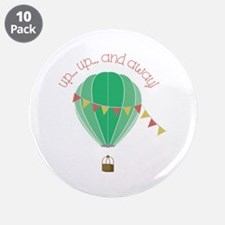 """Up...up... and Away 3.5"""" Button (10 pack)"""