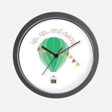 Up...up... and Away Wall Clock