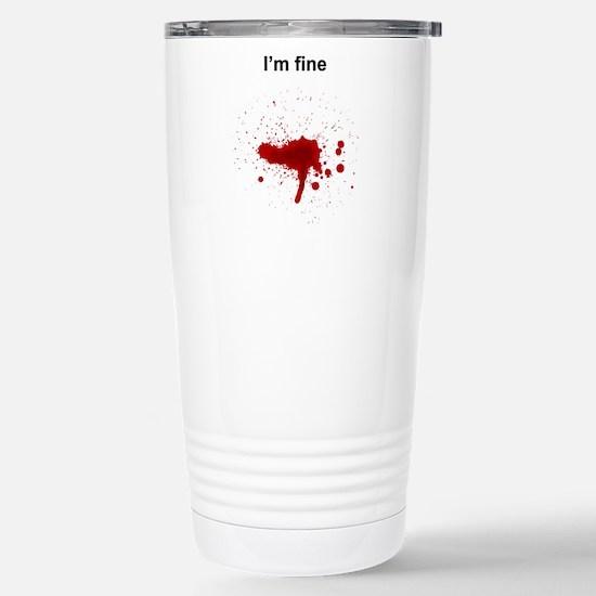 Blood Stainless Steel Travel Mug