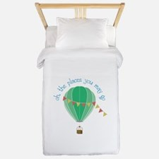 oh, the places you may go Twin Duvet