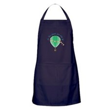 oh, the places you may go Apron (dark)