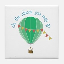 oh, the places you may go Tile Coaster