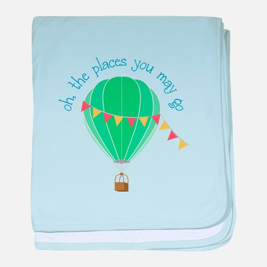 oh, the places you may go baby blanket