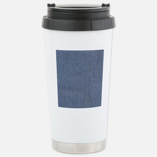 Blue Denim Stainless Steel Travel Mug