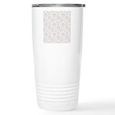 Elegant White Roses Travel Mug