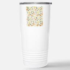 Peach and Yellow Flower Travel Mug