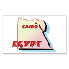 Egypt Map Rectangle Decal