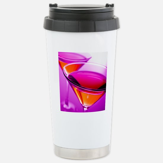 Two Red martini's in pi Stainless Steel Travel Mug