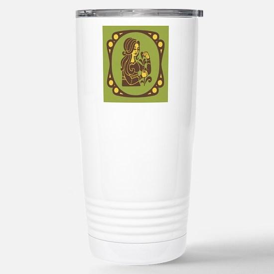 Virgo Zodiac Symbol Stainless Steel Travel Mug