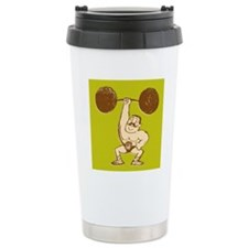 Strongman Lifting Barbe Travel Mug