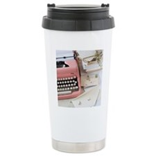 Letters by antique type Travel Mug