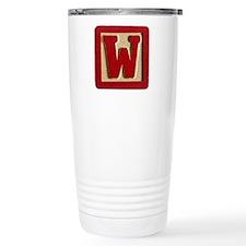 Letter W Travel Mug