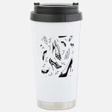 Ladies Shoe Pattern Travel Mug