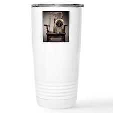 Pekingese Dog Sits on 1 Travel Mug