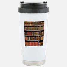 Old Books on Library Sh Stainless Steel Travel Mug