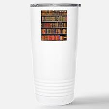 Old Books on Library Sh Travel Mug